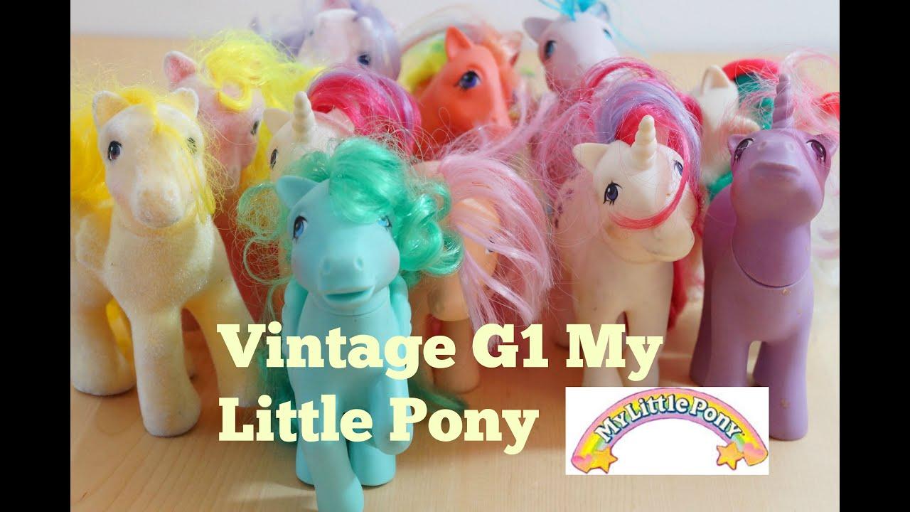 vintage my little pony g1 unicorn and pegasus and earth pony youtube