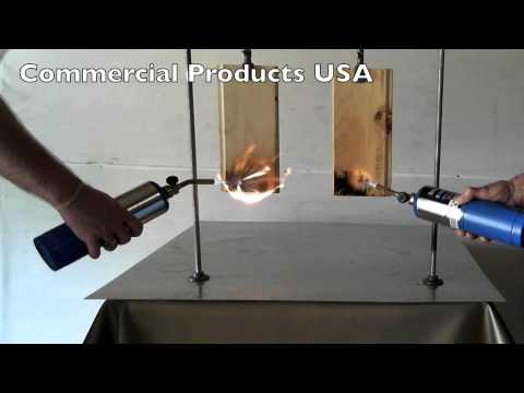 Commercial Products USA FR Flame Retardant Demo