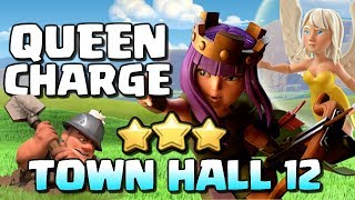 QUEEN CHARGE MINERS ⭐⭐⭐TH12 Attack Strategy | Clash of Clans