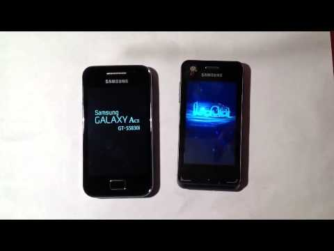 Mein Samsung Galaxy Ace vs. Samsung Wave 723 Boot up - HD