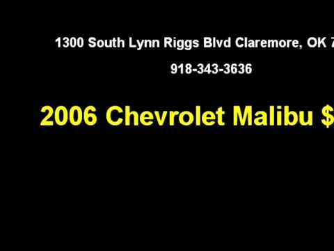 2006 Chevrolet Malibu $Call 918 343 3636 By Suburban Chevrolet
