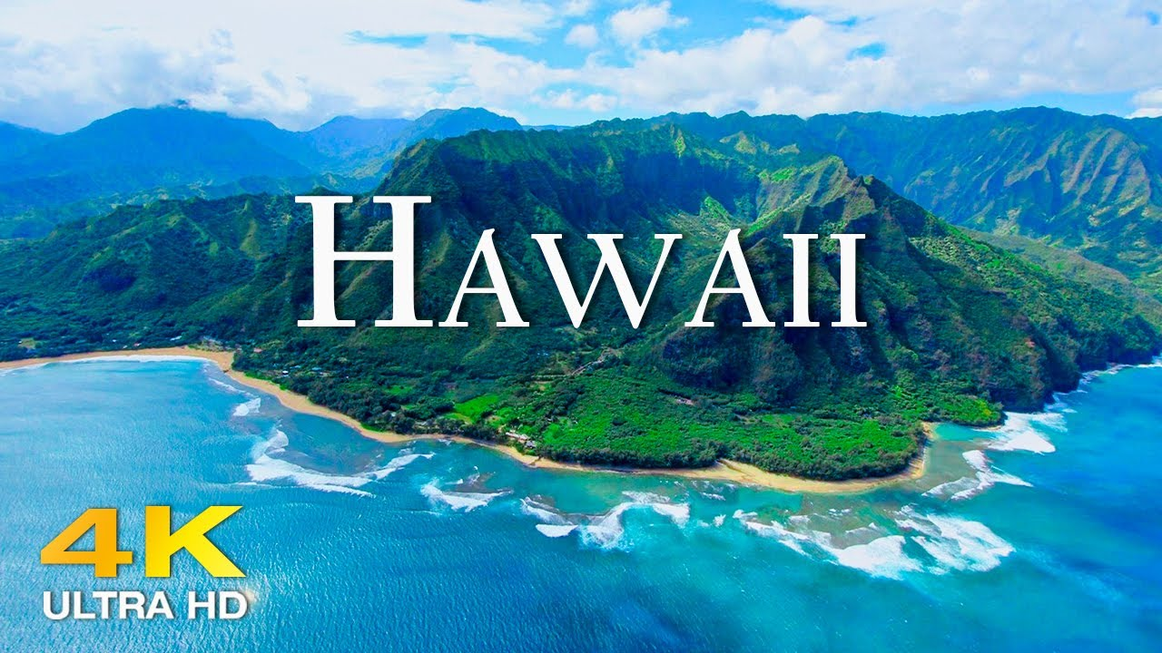 Download FLYING OVER HAWAII (4K UHD) Amazing Beautiful Nature Scenery with Relaxing Music | 4K VIDEO ULTRA HD