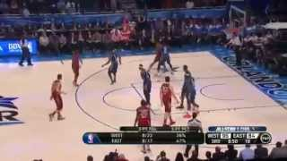 Dwyane Wade BREAKS Kobe Bryant's NOSE @ NBA All-Star Game 2012 (Kevin Durant MVP, 36 Pts)