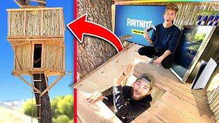 We built EPIC 2 Story GAMING Tree House! *DANGEROUS*