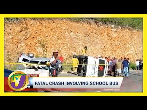 Fatal Crash involving School Bus in Jamaica | TVJ News - May 4 2021