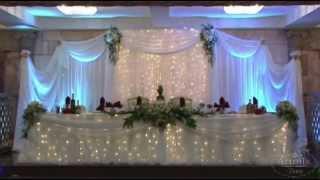Президиум. Свадебное украшение в ресторане