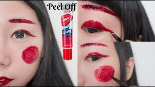 Full Face Makeup Using Peel Off Lip Stain Challenge! How Will It Turns Out?