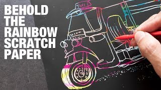 Have Fun Drawing with Rainbow Scratch Paper
