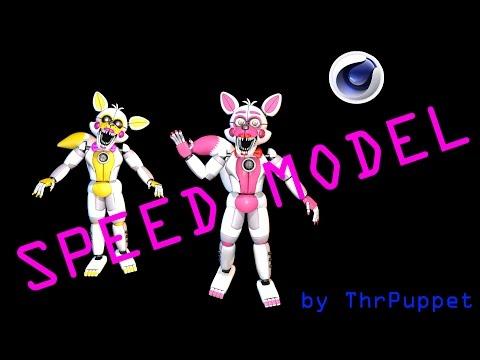 [C4D FNaF] Funtime Foxy SPEED MODEL | ThrPuppet