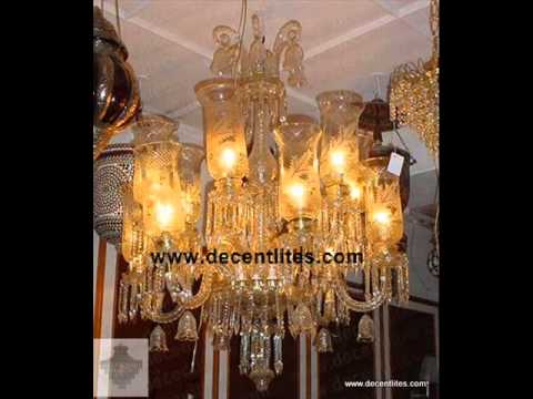 Decent Lites Glass Pedestal Chandelier