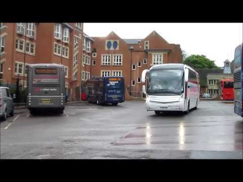 Coaches Departing Warwick Svcs and Oxford Bus Stn.