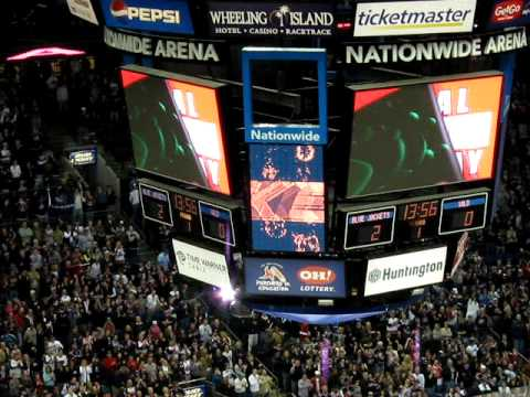 Columbus Blue Jackets Goal Cannon. Jared Boll 4-11-09 - YouTube