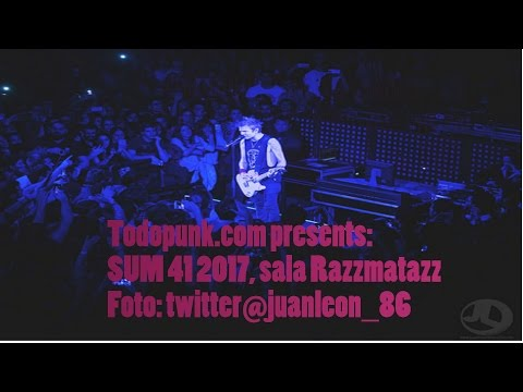 Sum 41 Enero 2017 Razzmatazz + Bonus karaoke Rocksound Almogàvers