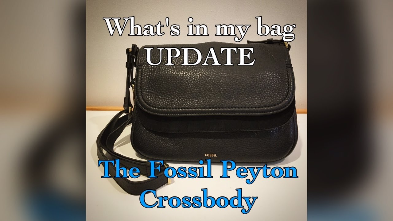 68557c4f5a0c What s in my bag UPDATE  The Fossil Peyton Crossbody - YouTube