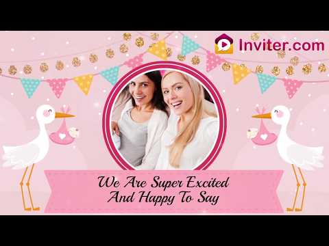 Latest Whatsapp Twinkle Theme Baby Shower Invitation Video | Inviter