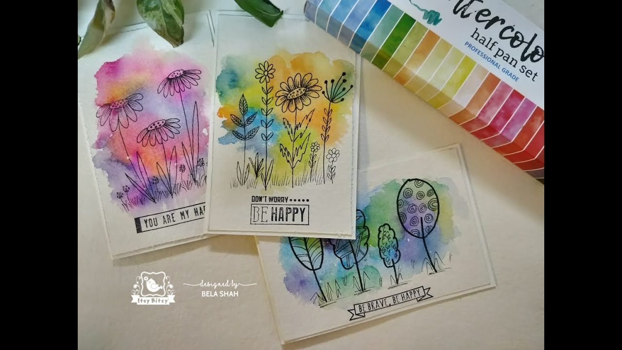pretty and simple watercolour doodle cards  youtube