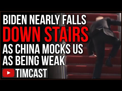 Biden Struggles, Nearly Falls Down Stairs In Viral Video As China SLAMS Us As Weak And Fractured
