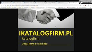 Bezpłatne katalogi firm,darmowe katalogi firm,darmowy spis firm http://ikatalogfirm.pl/