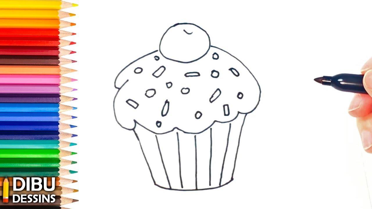 Comment Dessiner Un Cupcake Dessins Faciles Youtube