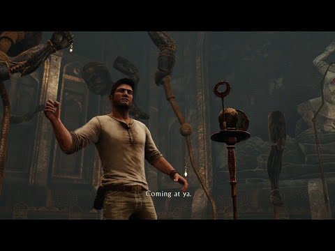 Uncharted 3 Drake's Deception Remastered - Chap 11 As Above, So Below: Mural (Align Statues) Puzzle