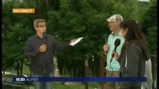 France 3 Alpes au camping du lac de Monteynard (38)
