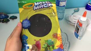 MAKING BUTTER SLIME USING MODEL MAGIC CLAY