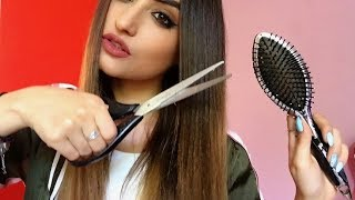 ♡ ASMR ROLEPLAY - NEW PERFECT HAIRCUT FOR HER AND HIM / brushing - scissors - spray ♡
