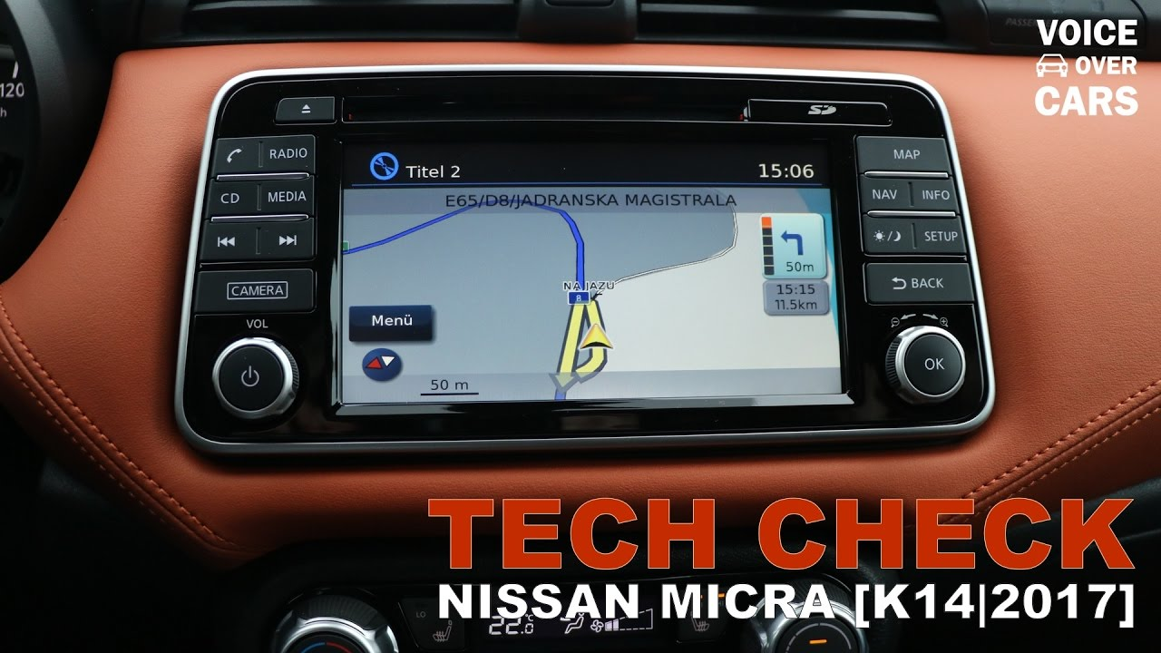 neuer nissan micra tech check infotainmentsystem. Black Bedroom Furniture Sets. Home Design Ideas