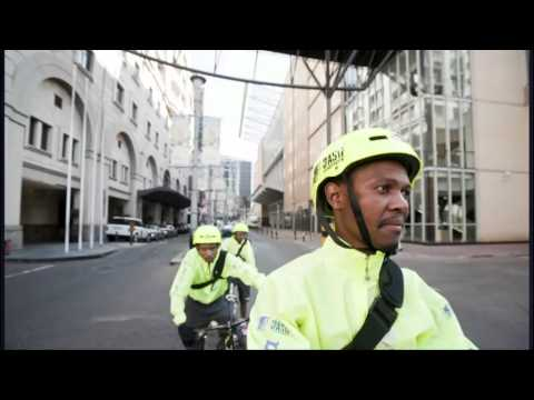 Bike couriers come to Sandton