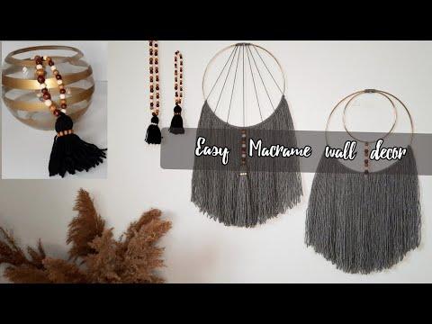 diy-macrame-wall-hangings- -easy-macrame-wall-hanging-tutorials- -wood-beads-garland