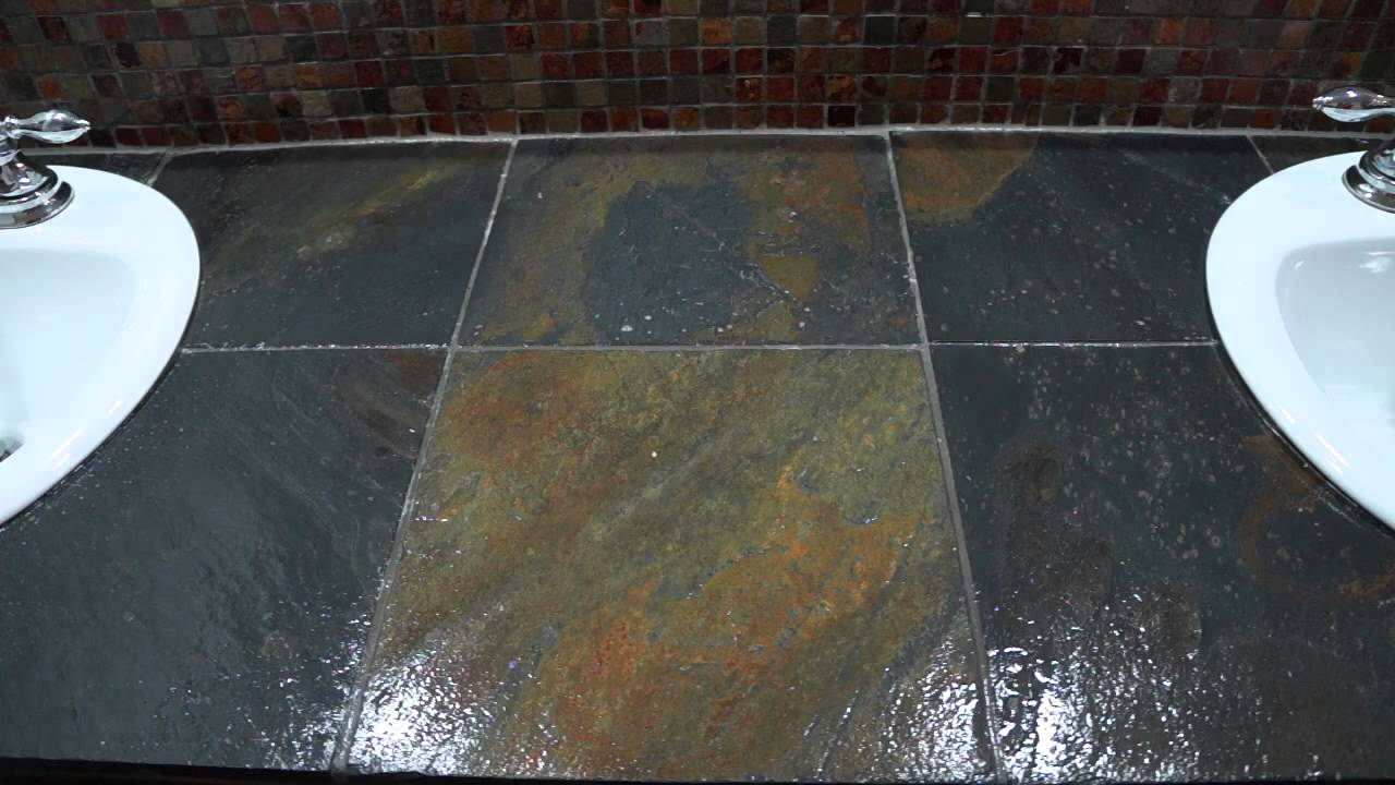 How to seal slate or natural stone tiles youtube doublecrazyfo Gallery