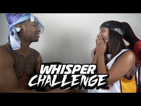HILARIOUS GF VS BF WHISPER CHALLENGE !!
