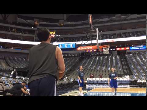 Watch Mavericks Owner Mark Cuban Drain 2 Corner 3 Pointers Before Warriors Game