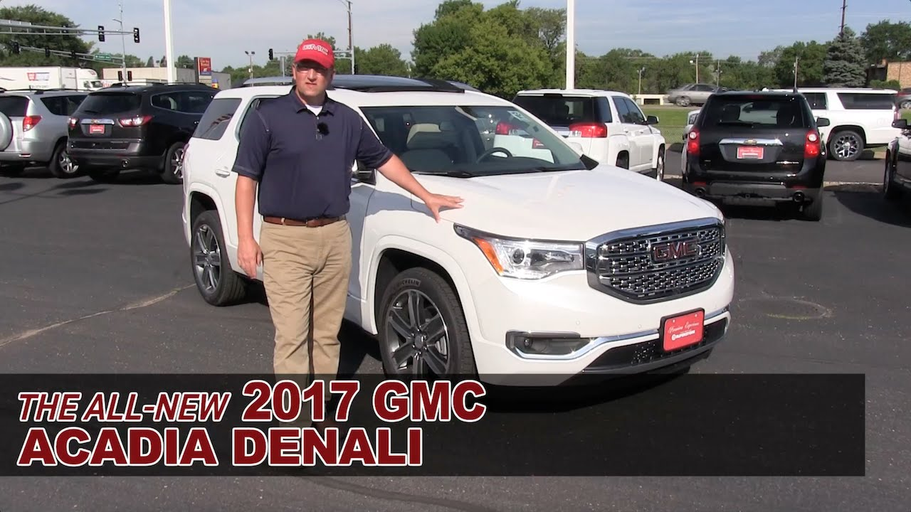 The All New 2017 Gmc Acadia Denali White Bear Lake St Paul Mpls Roseville Mn Review You