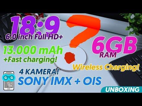 UNBOXING HP MONSTER! Batre 13.000 mAh / RAM 6GB / Sony IMX + OIS / Wireless Charging / Oreo 8.1