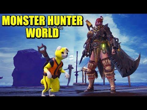MONSTER HUNTER WORLD (PC) #1 - FLAT ERIC Y VICIO AL ATAQUE | Gameplay Español