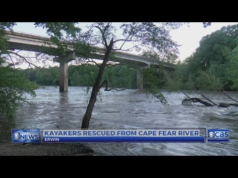 3 kayakers rescued from Cape Fear River in Harnett County