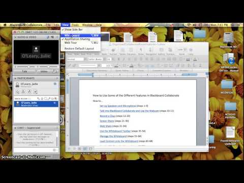 How to Screen Share in Blackboard Collaborate
