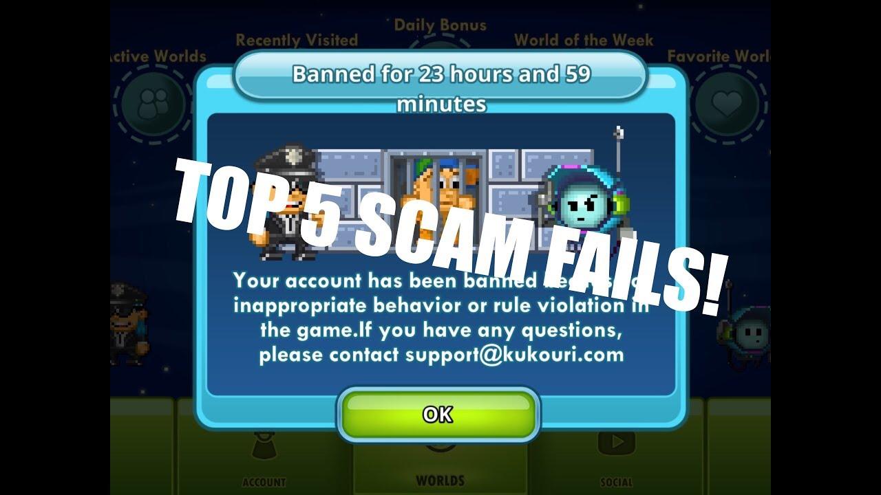 Download Top 5 pixel worlds scam fails!