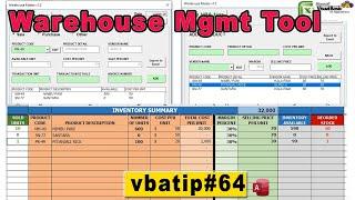 Excel Warehouse Management System - Vbatip#64 | Free Inventory Tool