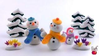איש שלג מפלסטלינה