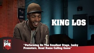 King Los - Performing On The Smallest Stage, Janky Promoters, Tour Games (247HH Wild Tour Stories)