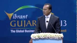 Anil Ambani Speech during Inauguration of Vibrant Gujarat Summit 2013