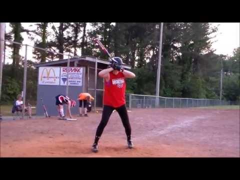 Celie Hudson hitting 1