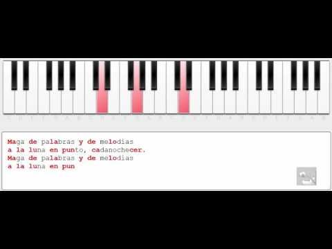 Música del texto: Maga de palabras y de melodías