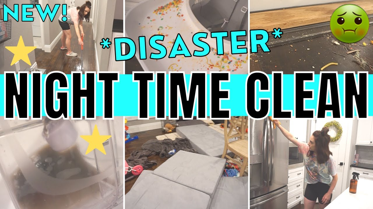 *DISASTER* AFTER DARK CLEAN WITH ME 2021 | NIGHT TIME CLEANING MOTIVATION | CLEANING ROUTINE