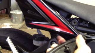 How to remove battery from an 08-12 ninja 250r