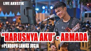 Download lagu HARUSNYA AKU - ARMADA (LIRIK) LIVE AKUSTIK COVER BY TRI SUAKA - PENDOPO LAWAS