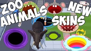 Hole.io - Gameplay - New Skins - New Update - New Zoo Animals - (iOS - Android)