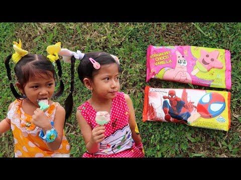 [icip-icip] Es Krim Spiderman + Es Krim Patrick Strawberry Spongebob鉂� Ice Cream Campina